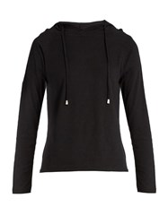 Pepper And Mayne Hooded Cotton Jersey Sweatshirt Black