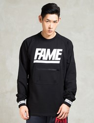 Hall Of Fame Black Jumbo Crewneck Sweatshirt