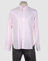 Agho Shirts Long Sleeve Shirts Men Pink