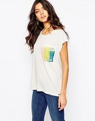 Boss Orange T Shirt With Silk Patch Pocket 52 Light Pastel Gray