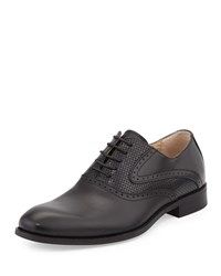 Rw Footwear Eddy Perforated Oxford Black
