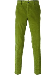 Incotex Corduroy Slim Trousers Green
