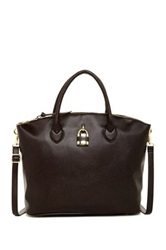 London Fog Brixton Large Leather Dome Brown