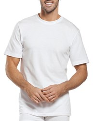 Jockey Big And Tall 2 Pack Stay New Crewneck Set White