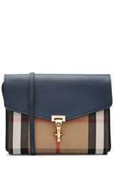 Burberry Shoes And Accessories Leather Shoulder Bag With Print Fabric Multicolor