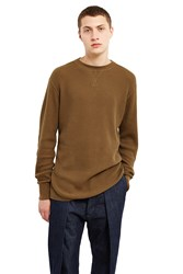 Alexander Wang Waffle Long Sleeve T Shirt Army Green
