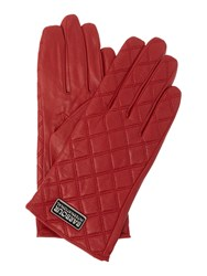 Barbour Burton Quilt Leather Glove Red