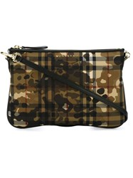 Burberry Camouflage Print Crossbody Bag Nude And Neutrals