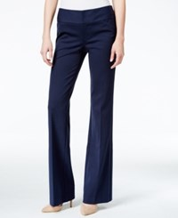 Inc International Concepts Petite Wide Leg Trousers Only At Macy's Deep Twilight