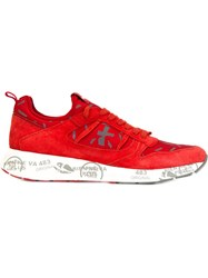 Premiata Printed Sneakers Red