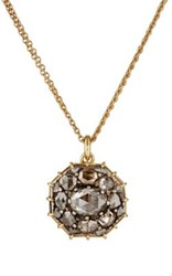 Renee Lewis Women's Cluster Pendant Necklace White