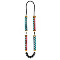 Shh By Sadie Miami Nights Long Woven Necklace Gold