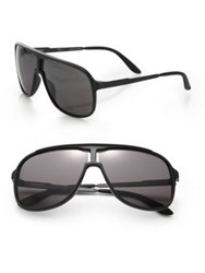 Carrera New Safari 62Mm Plastic Aviator Sunglasses Black