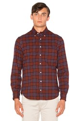 Gitman Brothers Vintage Brushed Japanese Flannel Button Down Red