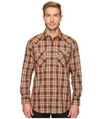 Pendleton Long Sleeve Frontier Brown Ombre Men's Clothing Tan