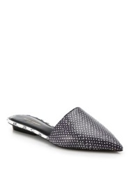 Narciso Rodriguez Athena Point Toe Snakeskin Mules Natural