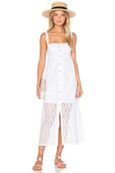 Only Hearts Club Lisbon Lace Square Neck Sundress White