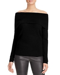 Bloomingdale's C By Off The Shoulder Cashmere Sweater Black