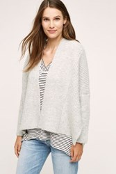 Anthropologie Rease Structured Cardigan Grey