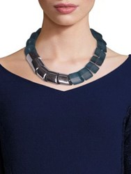 Lafayette 148 New York Linked Necklace Mist Blue