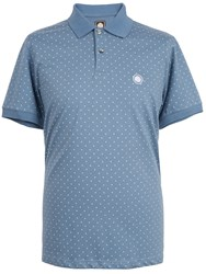 Pretty Green Polka Dot Polo Blue