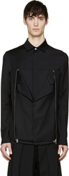 Hood By Air Black Blazer Lapel Shirt