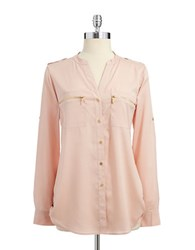 Calvin Klein Zipper Utility Shirt Blush