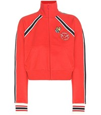 Tommy Hilfiger Cotton Jacket With Applique Red