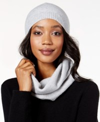 Charter Club Cashmere Sequined Hat And Infinity Scarf Set Only At Macy's Heather Crystal