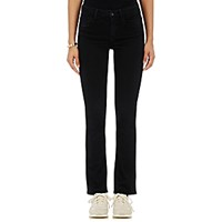 Helmut Lang Women's Crop Skinny Flared Jeans Black