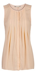 Sandwich Sleeveless Pleated Top Peach