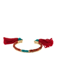 Aurelie Bidermann Sioux Coral Bamboo And Gold Plated Cuff