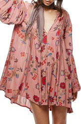 Free People Women's Just The Two Of Us Floral Tunic Pink