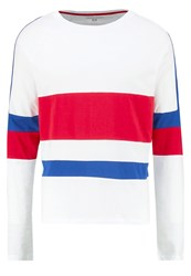Your Turn Long Sleeved Top White Blue Red
