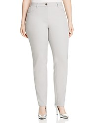 Basler Plus Julienne Slim Jeans In Light Grey Light Gray
