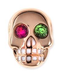 14K Rose Gold Gemstone Skull Single Stud Earring Sydney Evan