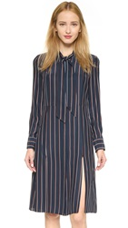 Frame Le Tie Shirtdress Navy Vintage Stripe