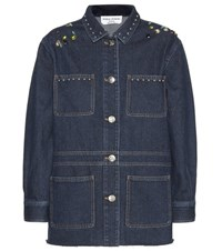 Sonia Rykiel Embellished Denim Jacket Blue