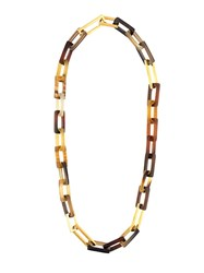 Maiyet 'Horn And Gold Link' Medium Necklace Brown