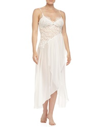 Jonquil Raquel Lace And Chiffon Gown Ivory
