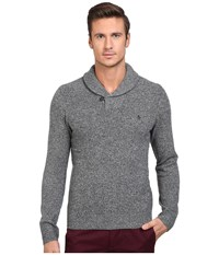 Original Penguin Pullover Shawl Neck Sweater Dark Shadow Men's Sweater Black
