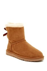 Ugg Mini Bailey Bow Genuine Sheepskin Lined Boot Brown