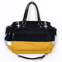 Stighlorgan Lacey Laptop Grip Bag Midnight Blue And Yellow