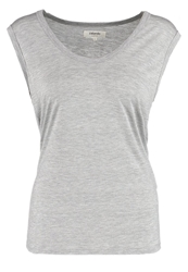 Zalando Essentials Basic Tshirt Ligth Grey Melange Mottled Light Grey