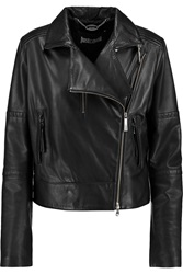 Just Cavalli Leather Jacket Black