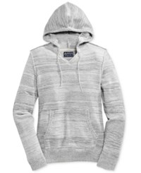 American Rag Men's Mix Stitch Marled Hoodie Only At Macy's Fresh Mist
