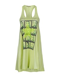 Athletic Vintage Dresses Short Dresses Women Acid Green