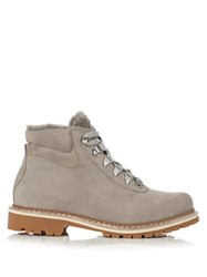 Montelliana Sequoia Shearling Lined Suede Apres Ski Boots Grey