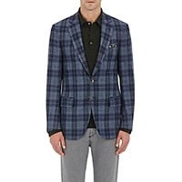 Isaia Men's Deco Wool Cashmere Two Button Jacket Blue
