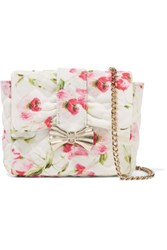 Red Valentino Redvalentino Quilted Floral Print Canvas Shoulder Bag Multi